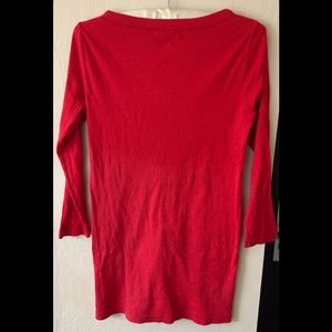 Michael Stars Tops - Michael stars red 3/4 sleeve button down shirt O/S